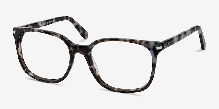 Absolutely Gray Floral Acetate Eyeglass Frames from EyeBuyDirect, Angle View