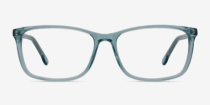 Constellation Clear Blue Acétate Montures de Lunettes d'EyeBuyDirect, Vue de Face