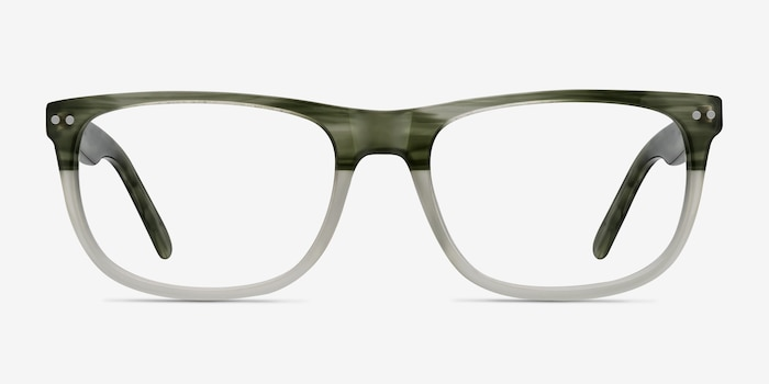 Koi Green Acetate Eyeglass Frames from EyeBuyDirect, Front View