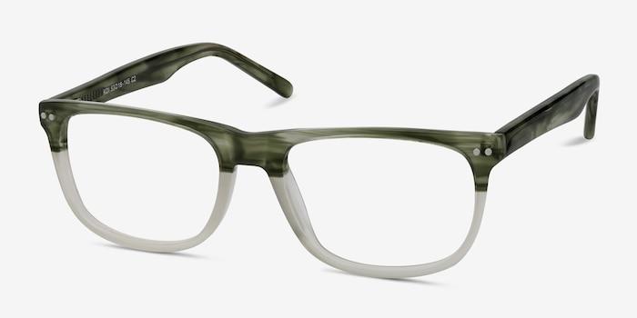 Koi Vert Acétate Montures de Lunettes d'EyeBuyDirect, Vue d'Angle
