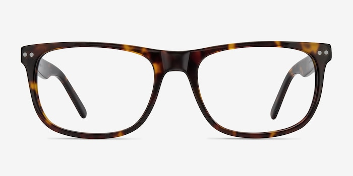 Koi Tortoise Acetate Eyeglass Frames from EyeBuyDirect, Front View