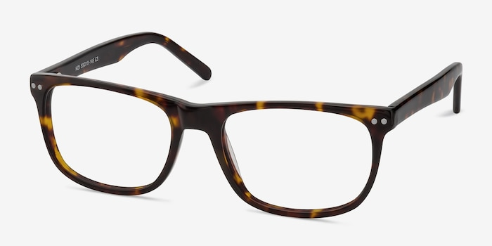 Koi Tortoise Acetate Eyeglass Frames from EyeBuyDirect, Angle View