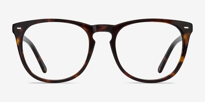 Divina Tortoise Acetate Eyeglass Frames from EyeBuyDirect, Front View