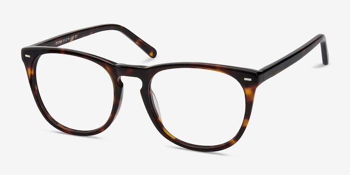 Divina Tortoise Acetate Eyeglass Frames from EyeBuyDirect, Angle View