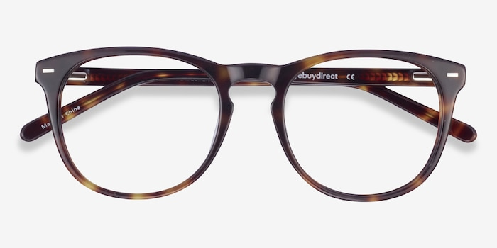 Divina Tortoise Acetate Eyeglass Frames from EyeBuyDirect, Closed View