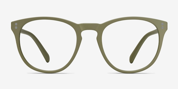 Legendary Green Plastic Eyeglass Frames from EyeBuyDirect, Front View