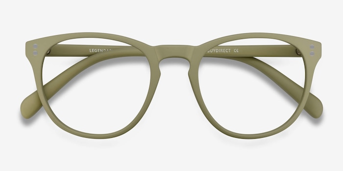 Legendary Green Plastic Eyeglass Frames from EyeBuyDirect, Closed View