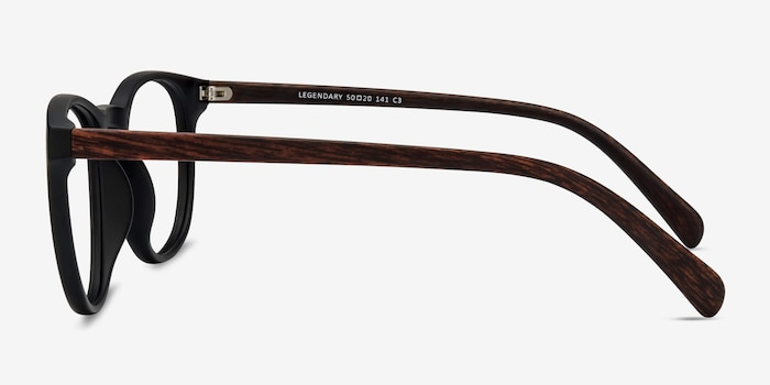 Legendary Black & Brown Plastic Eyeglass Frames from EyeBuyDirect, Side View
