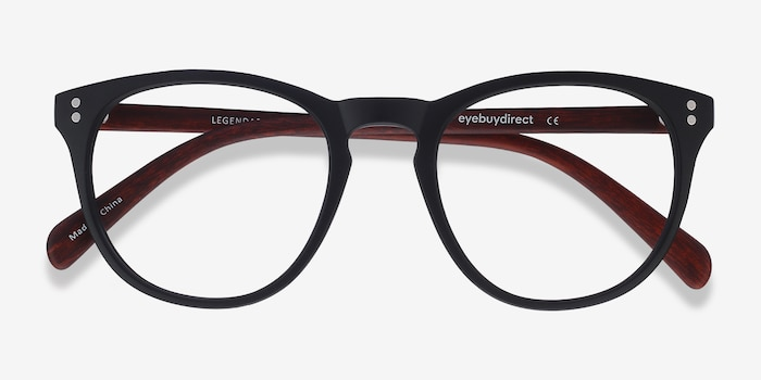 Legendary Black & Brown Plastic Eyeglass Frames from EyeBuyDirect, Closed View