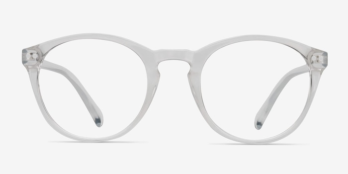Revolution Clear Plastic Eyeglass Frames from EyeBuyDirect, Front View