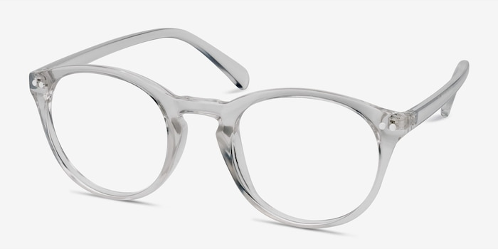 Revolution Clear Plastic Eyeglass Frames from EyeBuyDirect, Angle View