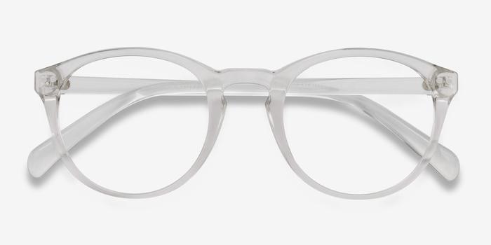 Revolution Clear Plastic Eyeglass Frames from EyeBuyDirect, Closed View