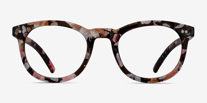 Solar Floral Plastic Eyeglass Frames from EyeBuyDirect, Front View