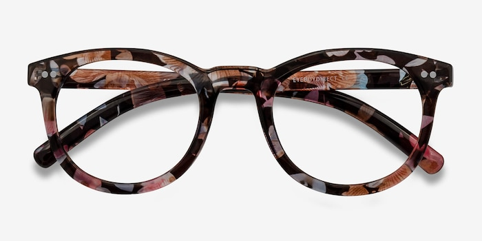 Solar Floral Plastic Eyeglass Frames from EyeBuyDirect, Closed View