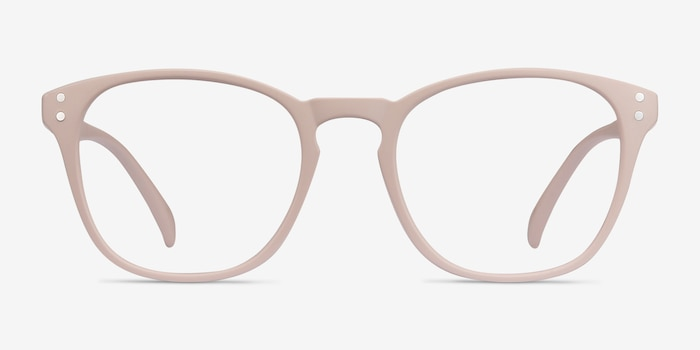 Myth Tan Plastic Eyeglass Frames from EyeBuyDirect, Front View