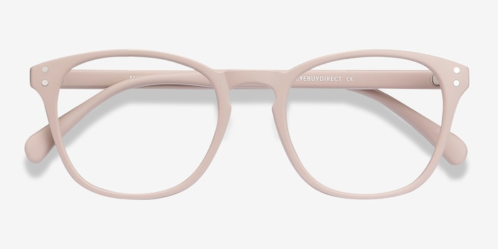Myth Tan Plastic Eyeglass Frames from EyeBuyDirect, Closed View