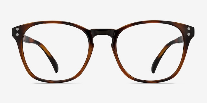 Myth Brown Plastic Eyeglass Frames from EyeBuyDirect, Front View