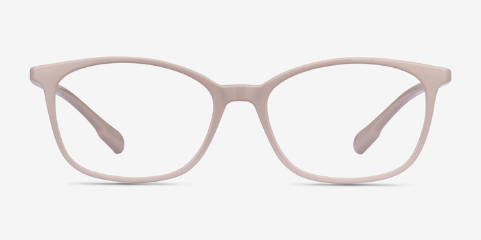 Glider Gray Plastic Eyeglass Frames from EyeBuyDirect, Front View