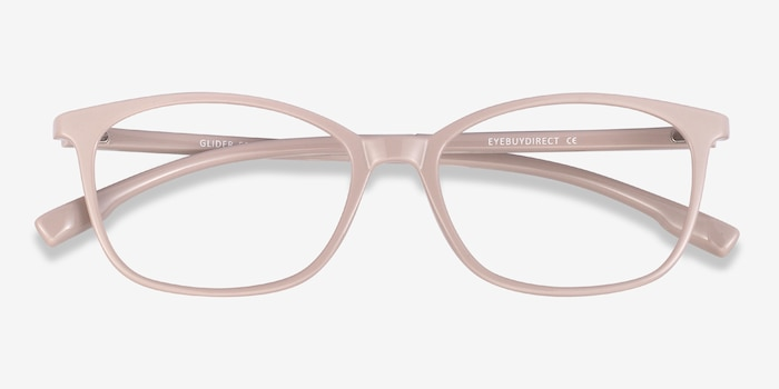 Glider Gray Plastic Eyeglass Frames from EyeBuyDirect, Closed View