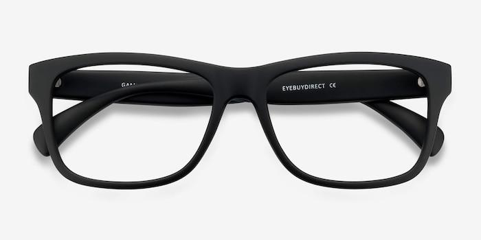 Gamble Matte Black Plastique Montures de Lunettes d'EyeBuyDirect, Vue Rapprochée