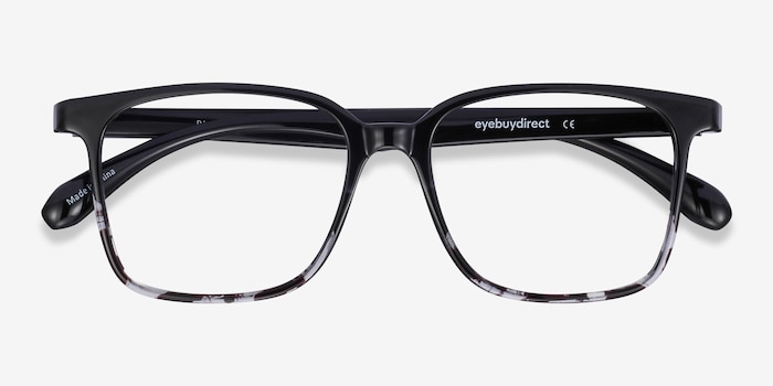 Blocks Black Clear Plastic Eyeglass Frames from EyeBuyDirect, Closed View