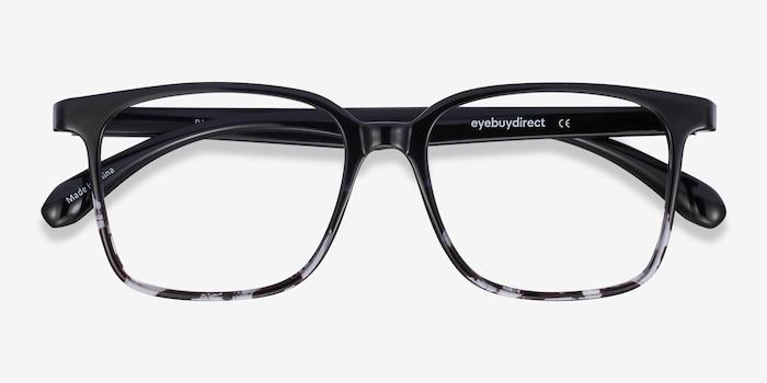 Blocks Black Clear Plastique Montures de Lunettes d'EyeBuyDirect, Vue Rapprochée