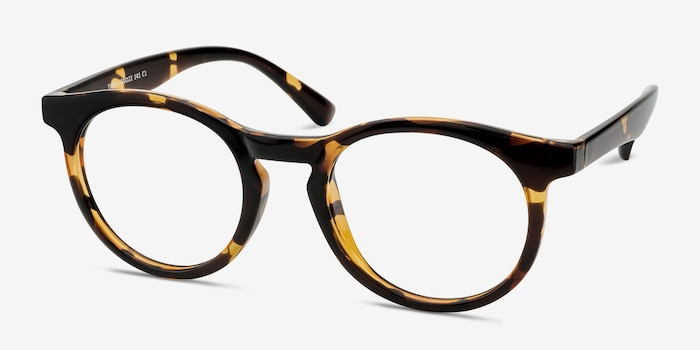 Thrill Tortoise Plastic Eyeglass Frames from EyeBuyDirect, Angle View