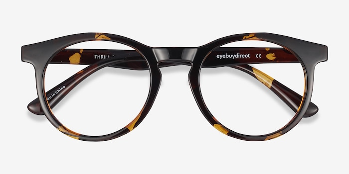 Thrill Tortoise Plastic Eyeglass Frames from EyeBuyDirect, Closed View