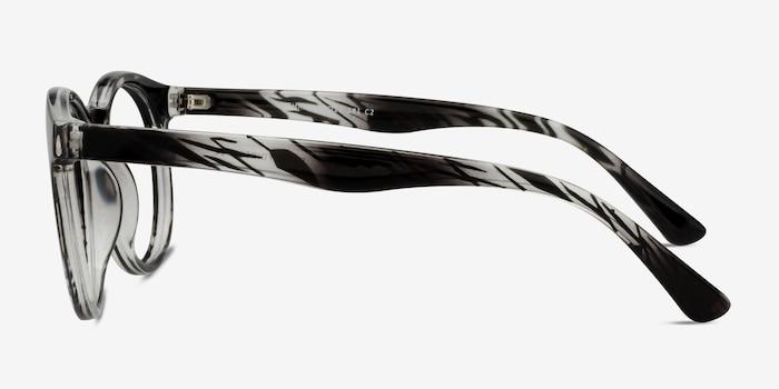 Thrill Black clear Plastique Montures de Lunettes d'EyeBuyDirect, Vue de Côté