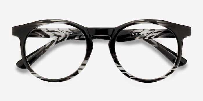 Thrill Black clear Plastique Montures de Lunettes d'EyeBuyDirect, Vue Rapprochée
