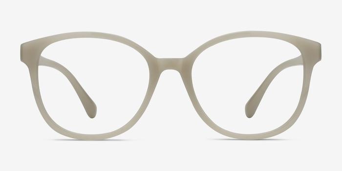 The Beat Blanc Plastique Montures de Lunettes d'EyeBuyDirect, Vue de Face