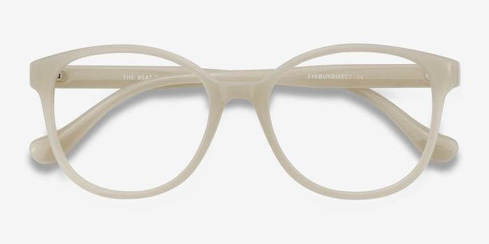 The Beat Blanc Plastique Montures de Lunettes d'EyeBuyDirect, Vue Rapprochée