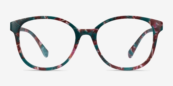 The Beat Floral Plastic Eyeglass Frames from EyeBuyDirect, Front View