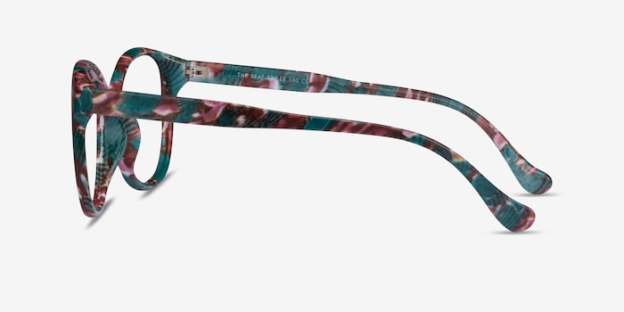 The Beat Floral Plastic Eyeglass Frames from EyeBuyDirect, Side View