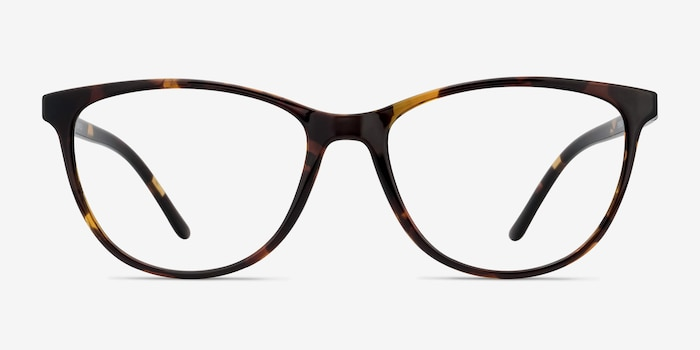 Release Tortoise Plastic Eyeglass Frames from EyeBuyDirect, Front View