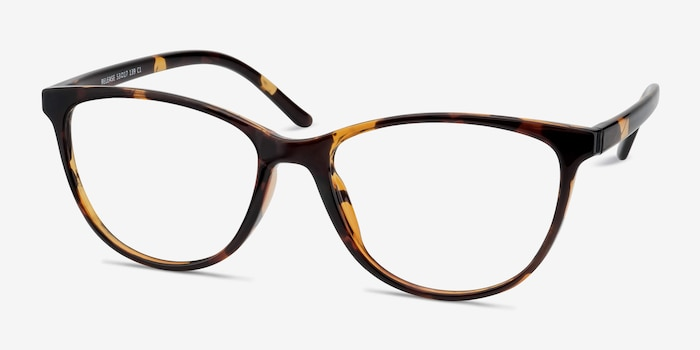 Release Tortoise Plastic Eyeglass Frames from EyeBuyDirect, Angle View