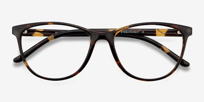 Release Tortoise Plastic Eyeglass Frames from EyeBuyDirect, Closed View