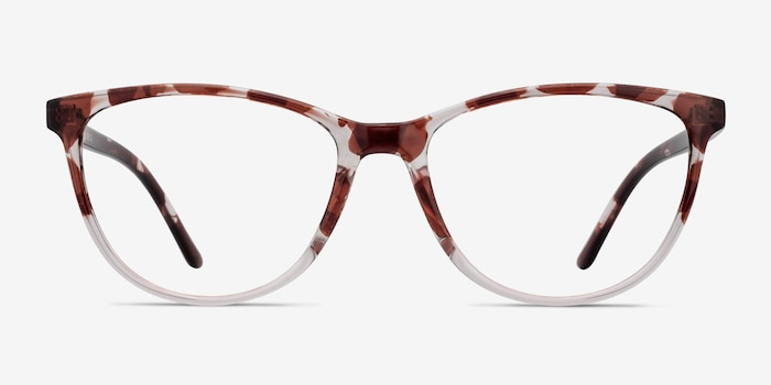 Release Floral Plastic Eyeglass Frames from EyeBuyDirect, Front View