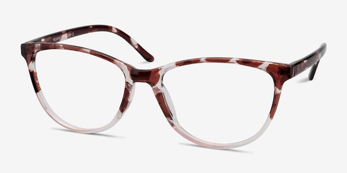 Release Floral Plastic Eyeglass Frames from EyeBuyDirect, Angle View