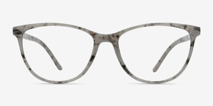 Release Speckled Gray Plastic Eyeglass Frames from EyeBuyDirect, Front View