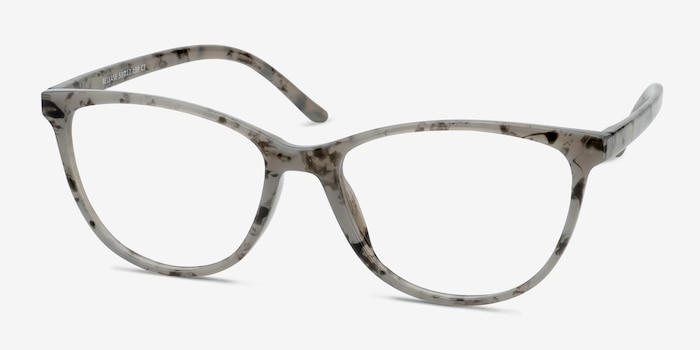 Release Speckled Gray Plastic Eyeglass Frames from EyeBuyDirect, Angle View
