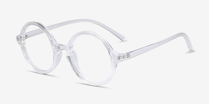 Years Clear Plastic Eyeglass Frames from EyeBuyDirect, Angle View