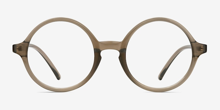 Years Gray Clear Plastique Montures de Lunettes d'EyeBuyDirect, Vue de Face