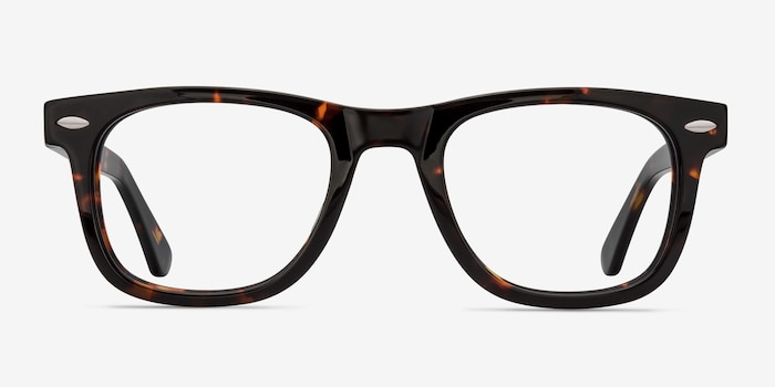 Blizzard Dark Tortoise Acetate Eyeglass Frames from EyeBuyDirect, Front View
