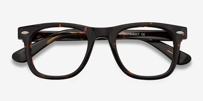 Blizzard Dark Tortoise Acetate Eyeglass Frames from EyeBuyDirect, Closed View