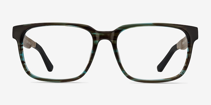 Belmont Coffee Acetate Eyeglass Frames from EyeBuyDirect, Front View