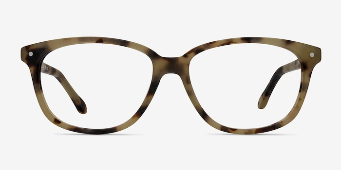 Escape Matte Tortoise Acetate Eyeglass Frames from EyeBuyDirect, Front View