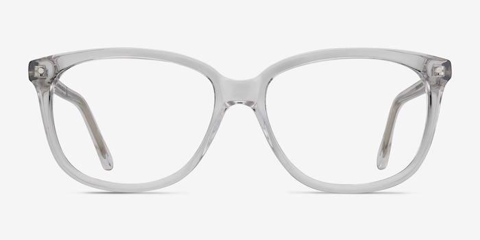 Escape Clear Acetate Eyeglass Frames from EyeBuyDirect, Front View
