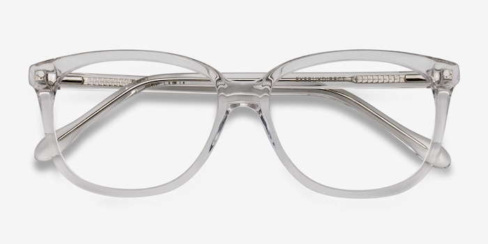 Escape Clear Acetate Eyeglass Frames from EyeBuyDirect, Closed View