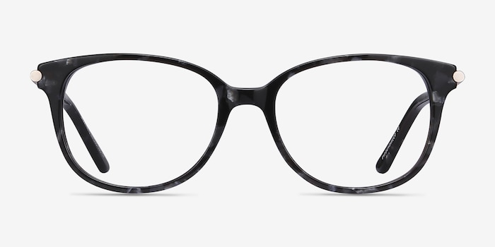 Jasmine Gray Floral Acetate Eyeglass Frames from EyeBuyDirect, Front View